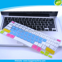 Flexible & Mixed Colored silicone keyboard protector for MacBook Laptop