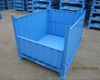 Bulk material collection warehouse storage folding steel container