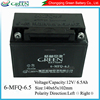 12 Volt 6.5ah High Capacity Rechargeable Sealed Lead Acid Mf Motor Battery