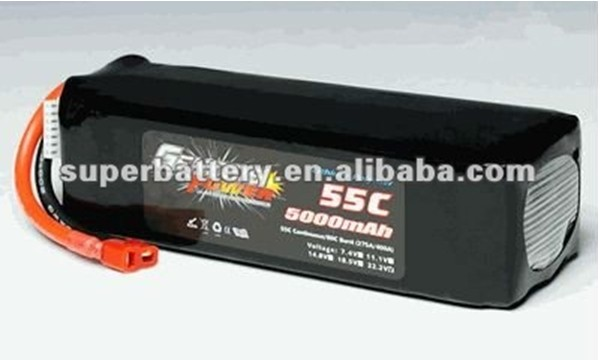 Lithium ion 6S 22.2V 5000mAh li-polymer 55C Polymer rc LiPo rechargeable Battery pack