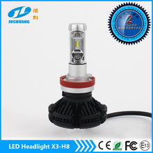 Super bright car and motorcycle X3 led headlight high power 50w 6000lm h8 h9 h10 h11 led headlight bulbs