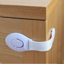 Multifunctional Long Bag Adjustable Child Safety Locks Infant Baby Anti-pinch Drawer Lock Refrigerator Lock