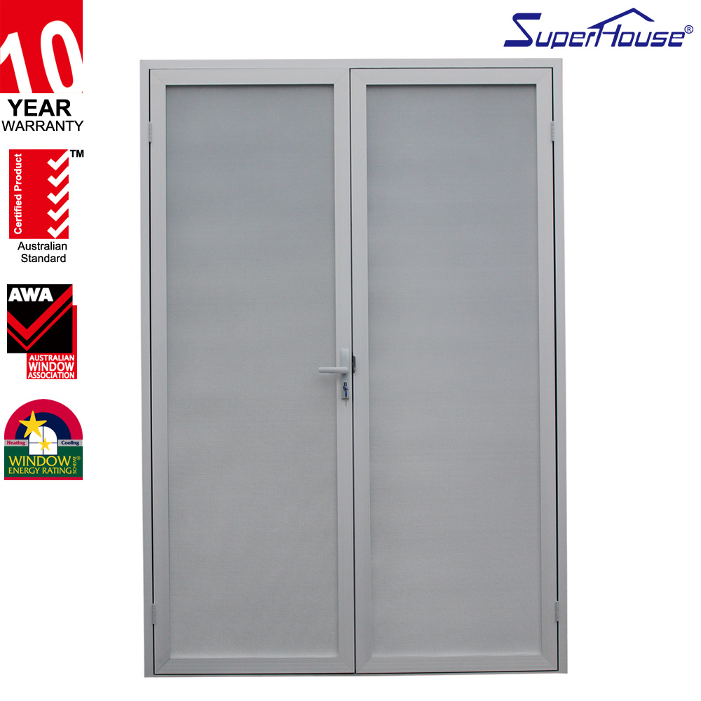 AS2047 top quality secruity screen mesh aluminium casement door