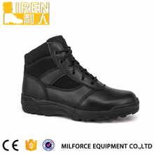Liren-New style leather black military police tactical boots