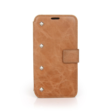 Wholesale leather mobile phone wallet cases for samsung S4