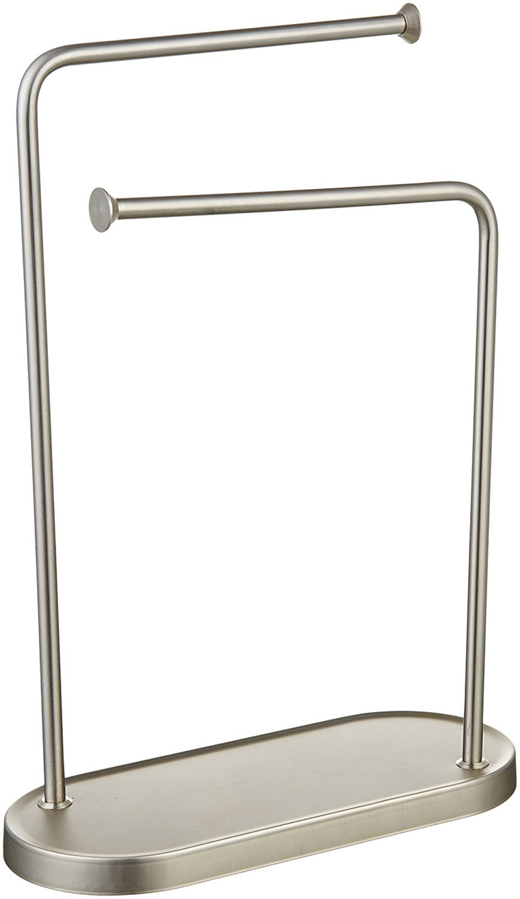 Dural Heavy Freestanding Double-L Hand Towel Stand, Stylish Fingertip Towel Holder