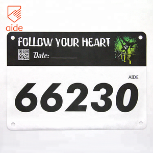 High Quality Custom Printed Disposable A5 Size Waterproof Tyvek Paper Race Number Bibs