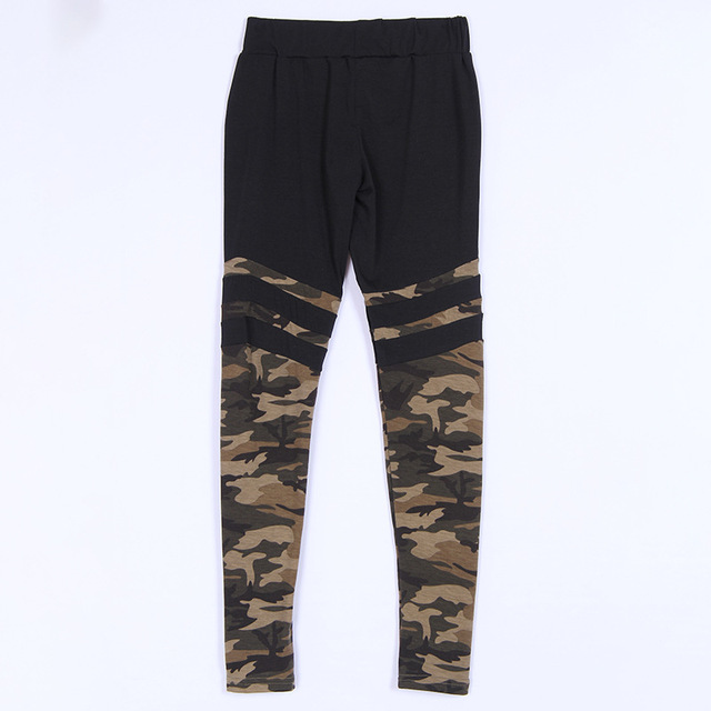 New style elastic camouflage casual trousers for women