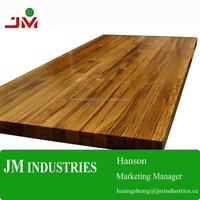 Teak plank butcher block kitchen counter tops/wood board/table tops