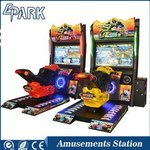 coin operated simulator moto racing game machine