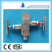2 way valve manifold, stainless steel water manifold