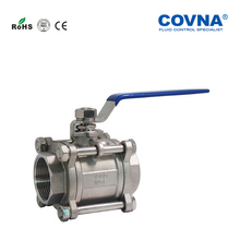 Three pieces screw ends 1000 WOG threaded full port stainless steel ball valve manufacturers