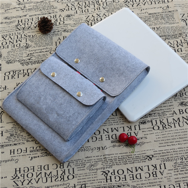 alibaba customized fashional felt laptop carry bag with pockets