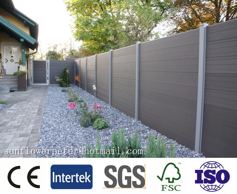 wpc fence, out door wood plastic composite fence, and wpc wall panel decking from China