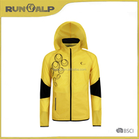 Men's outdoor yellow sport jacket with cap