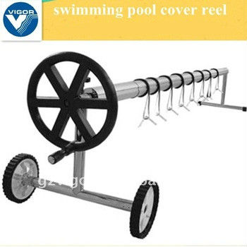 In-ground swimming Pool Cover Reel W/S.S. Frame(3-1/4'' tubes
