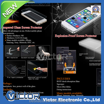 Korea 9H 2.5D 0.33mm Tempered Glass Screen Protector for iPhone 5/ 6/ 6 Plus (Customized Package Available)