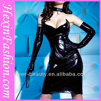 Wholesale Sexy Women Pvc Dress Bondage