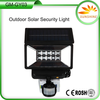 Bright Outdoor Weatherproof Security LED Solar Powered Motion Sensor wall Light