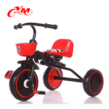Simple kids trike toy with EVA tire / wholesale 3 wheel baby bicycle child tricycle / plastic baby tricycle manufacture
