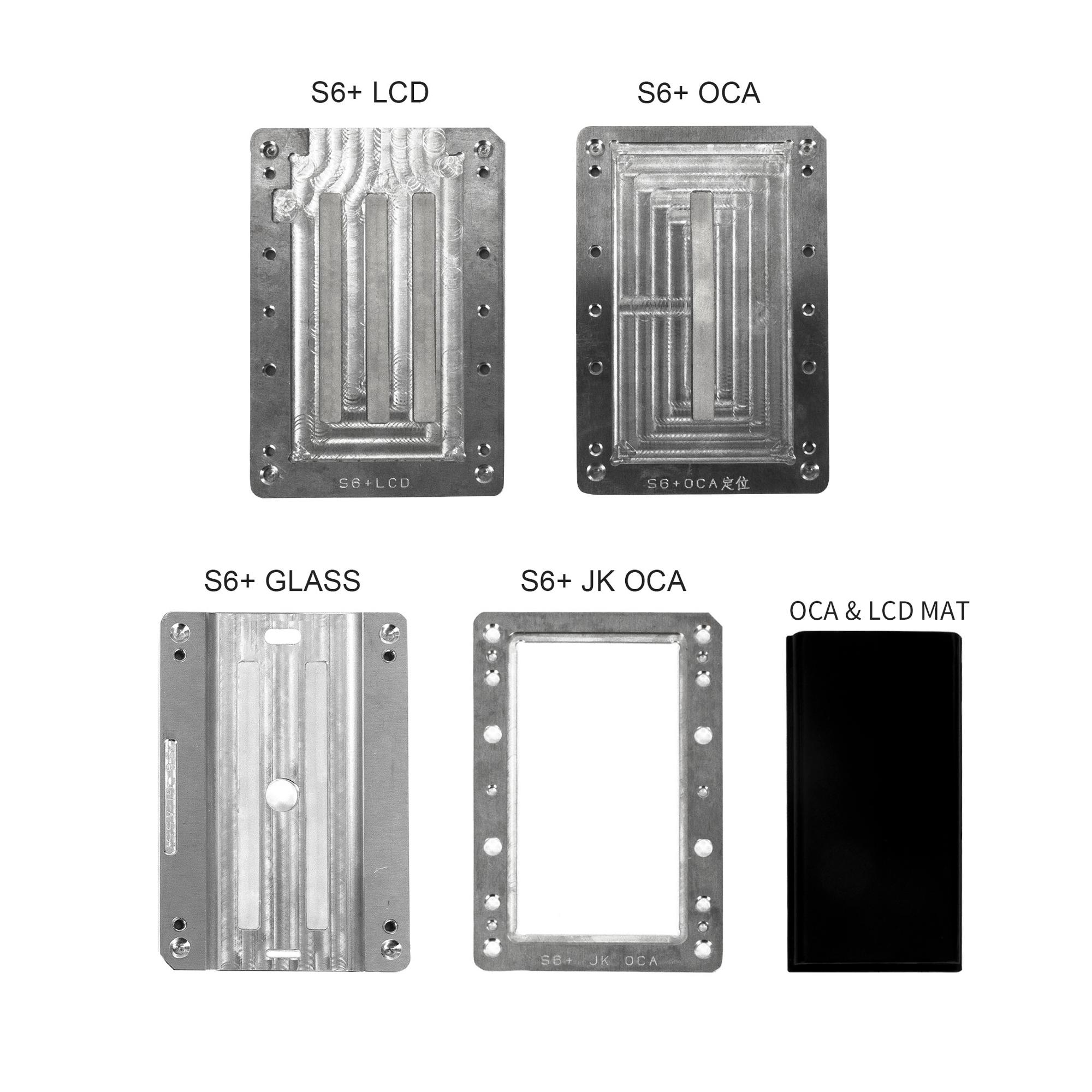 Newest metal mould for curved screen for Samsung S6+ after lcd&oled frozen separator laminating