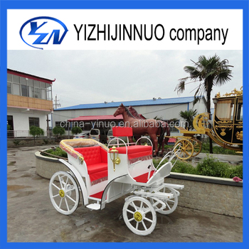Yizhinuo white Pony Horse-drawn sightseeing carriage/wagon manufacturer