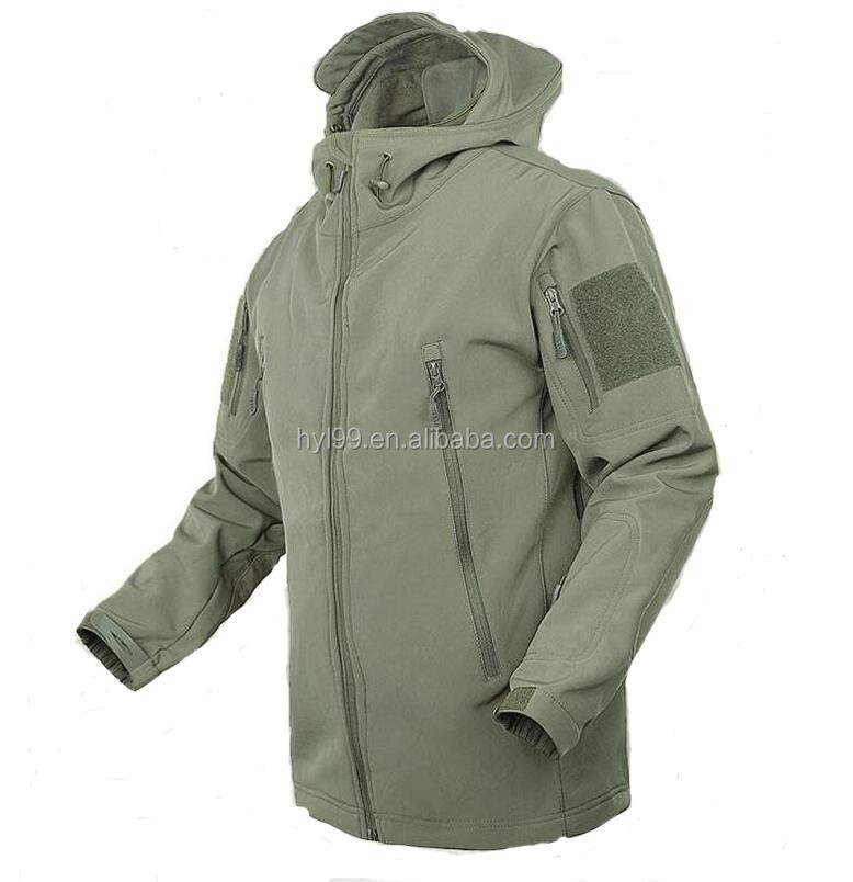 100% polyester material waterproof shark skin jacket