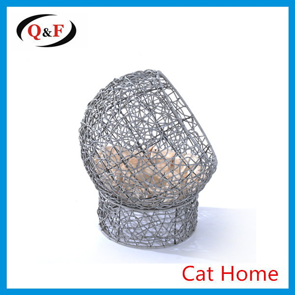 round wicker pet bed furniture plastic cat house