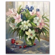 ROYIART Lily Flower Oil Painting Canvas Wall Art