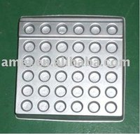 silver PS Vacuum formed blister tray for cosmetics,OEM design