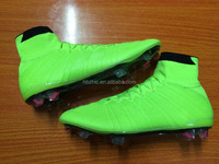2015 new design Men's outdoor soccer shoes Name brand football soccer boots