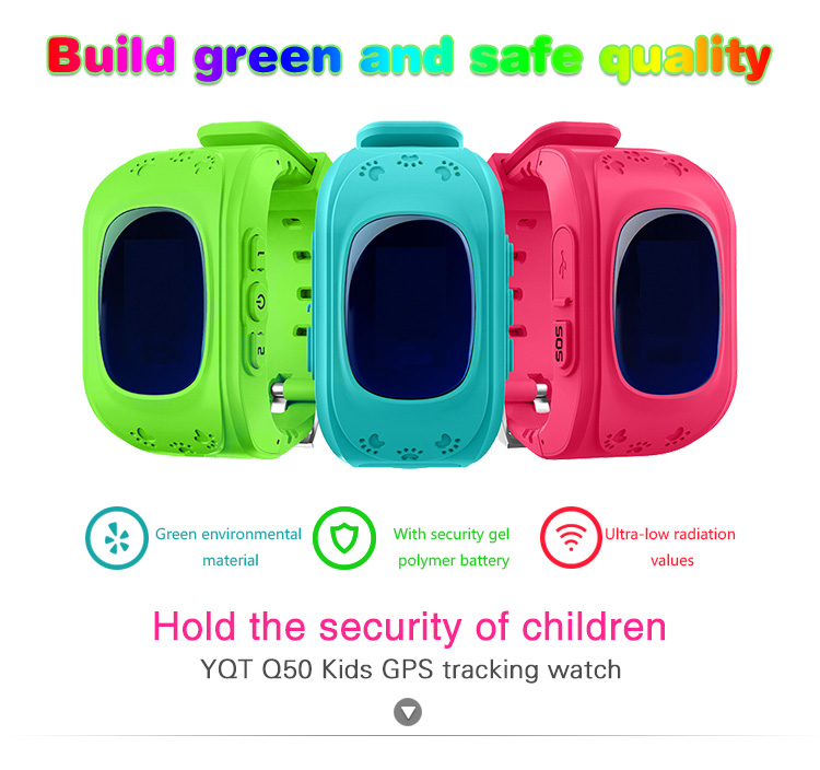 Q50 smart wrist watch waterproof gps tracking/traker device gps watch for kids girls,mobile watch phones for kids K5