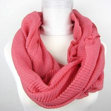chevron infinity crinkle polyester snood scarf for women