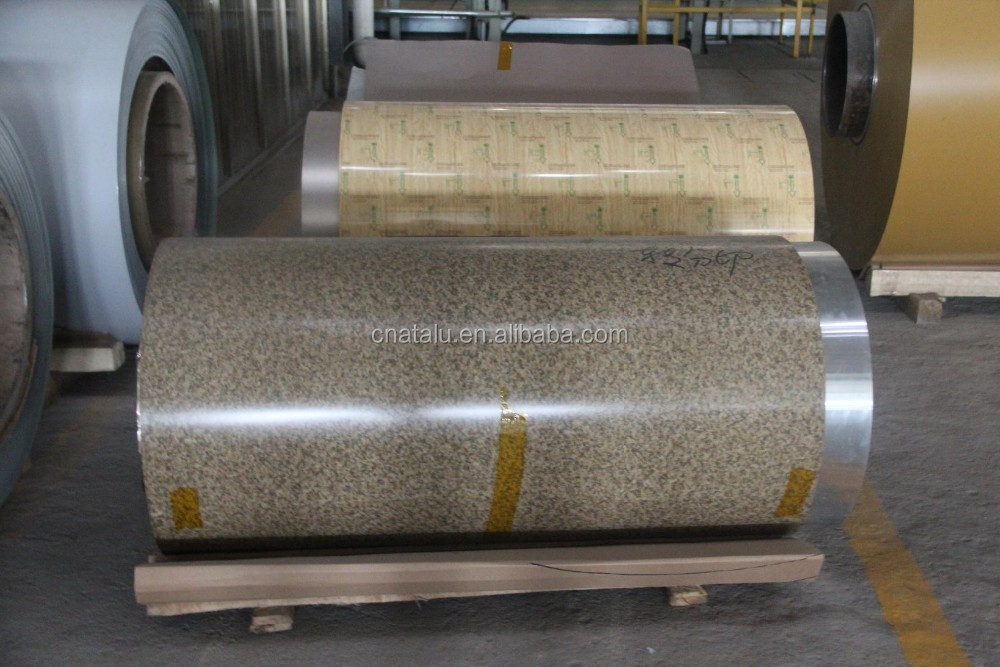 PE PVDF Roller Coated Aluminum Coil, Various Patterns and Colors are Available