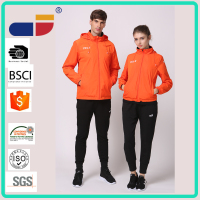 Stock sale high quality sport wear orange couple jacket wholesale clothing