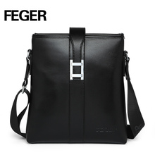 Black Cow Leather Single Strap Shoulder Bag Sling Bag For Businessman
