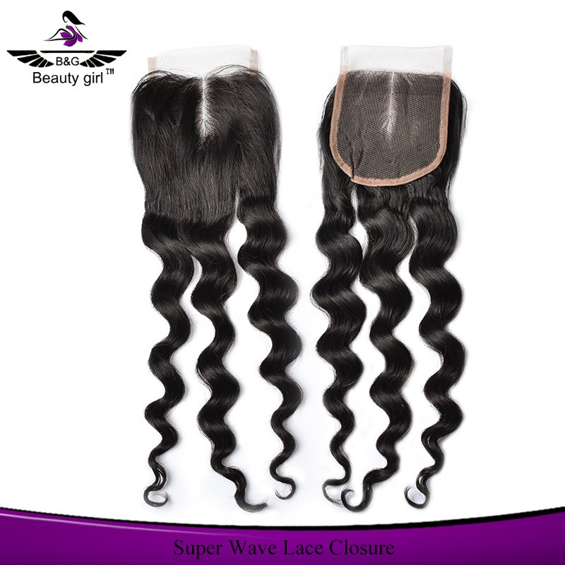 In stock and super quality 100% human hair lace closures best selling new arrival super million hair
