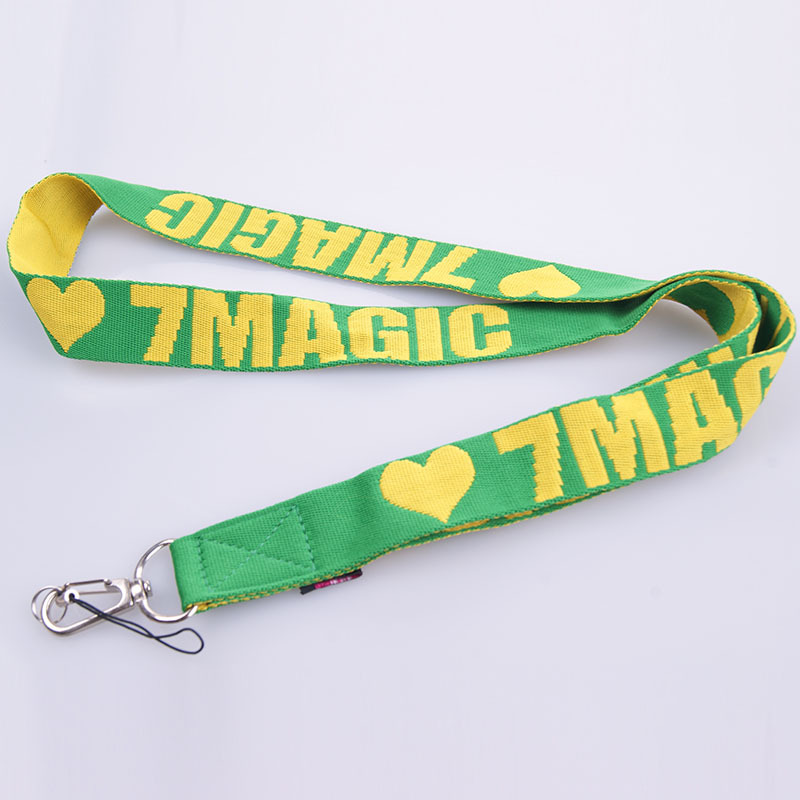 China lanyards leading company customized jacquard polyester lanyard