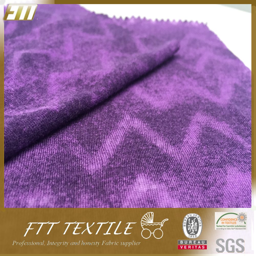 50 polyester 38 cotton 12 rayon single jersey fabric for T-shirts
