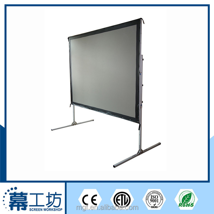 Format 16:9 200 inch Fast fold rear projection screen portable projector screen big size projection screen with drape kit