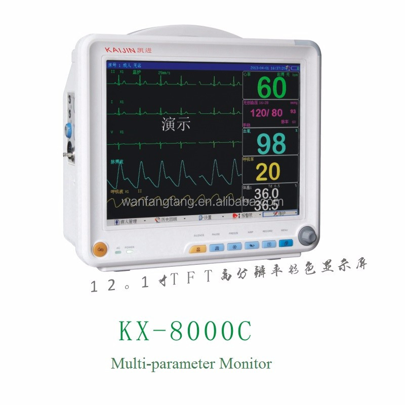 Manufacture TFT Color Display Multi Parameters Patient Monitor