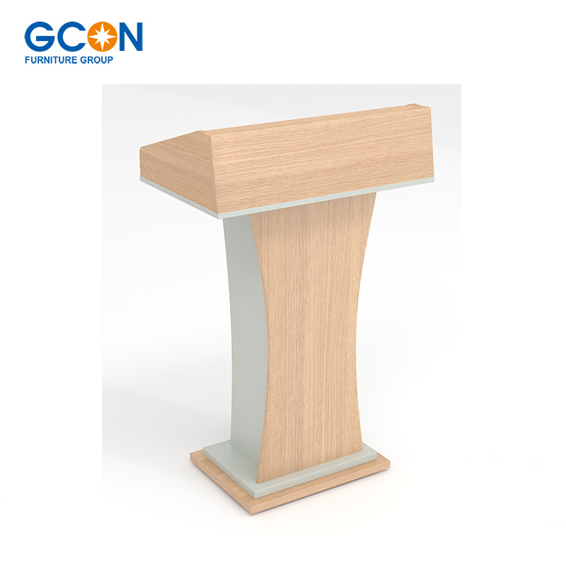 High quality modern wooden church podium lectern conference