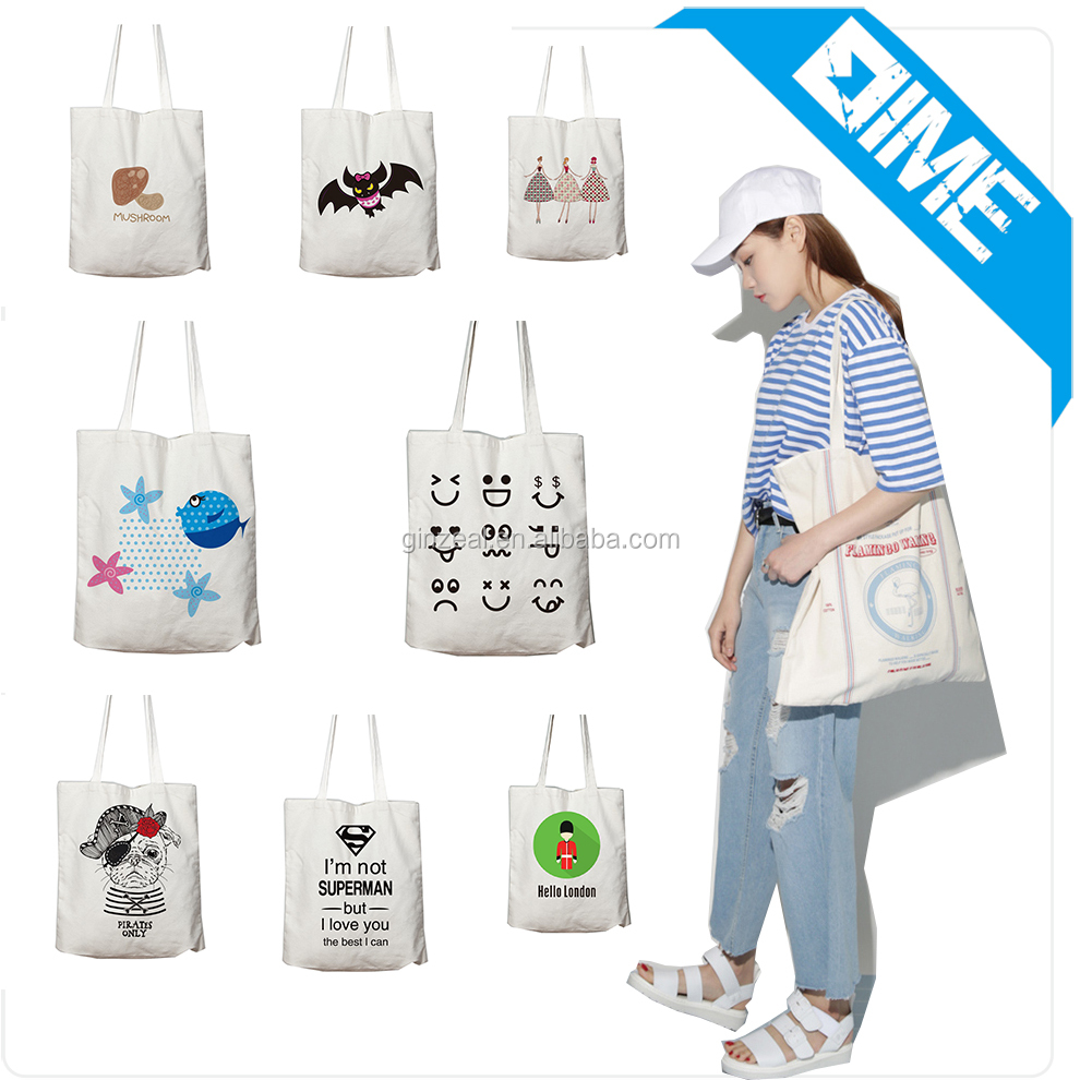 Beautiful Printed Recycled Bag, OEM Production Cotton Tote Bag