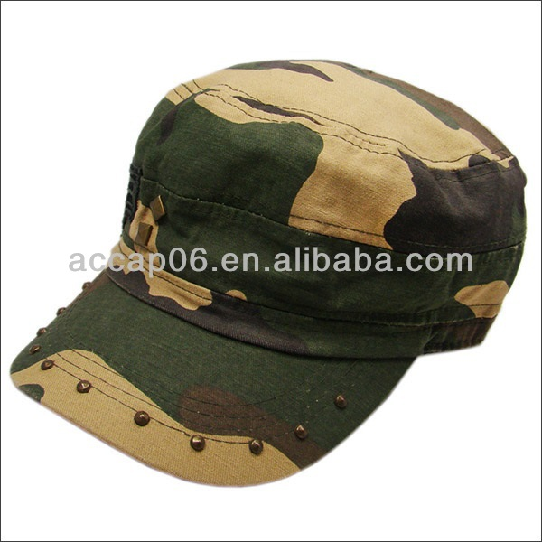 navy camouflage military officer hat