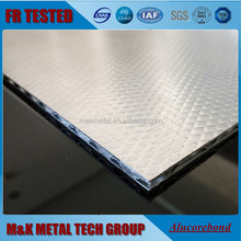 4mm EMBOSSED fireproof Corrugated Aluminum composite panel/ A2 FR ACP/ACCP/ACM
