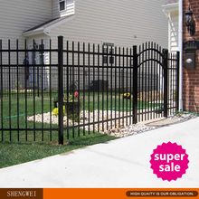 Hot sale modern gates and iron fences design/cheap house fence and gates