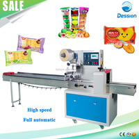 Automatic Horizontal Flow Pillow Candy/Bread/Biscuit Packing Machine