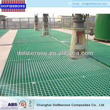 ASTM E-84 test passed ABS certficated15 to 63mm thick molded grp fiberglass frp grating