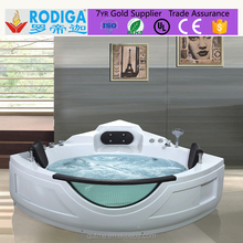2016 hot sale portable large ABS plastic whirlpool bathtub with bubble