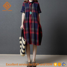 women long lattice cotton t shirt dress lady short sleeve round neck dresses